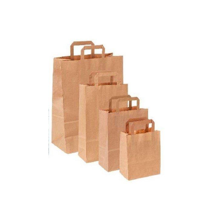 Sachet sac papier kraft + poignée 320x160x450mm