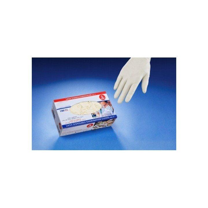 Boite de gants jetables LATEX nature (non-poudré)