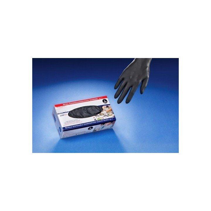Boite de gants jetables en NITRILE noir (non-poudré)