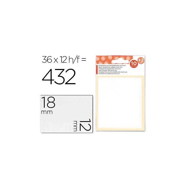 Etiquettes d'écriture manuelle 12x18mm 4320 étiquettes