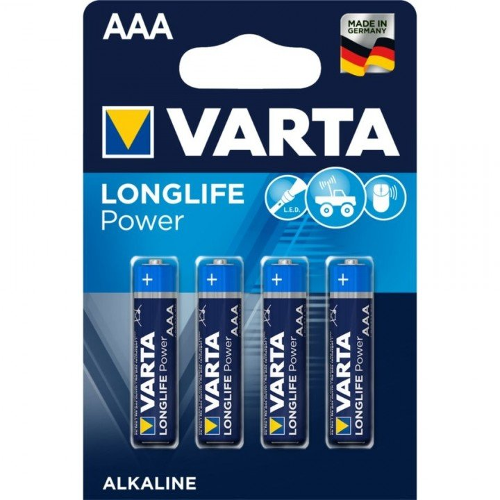 40 piles LR03 AAA (10 blisters) Varta LONG LIFE POWER R03 AAA