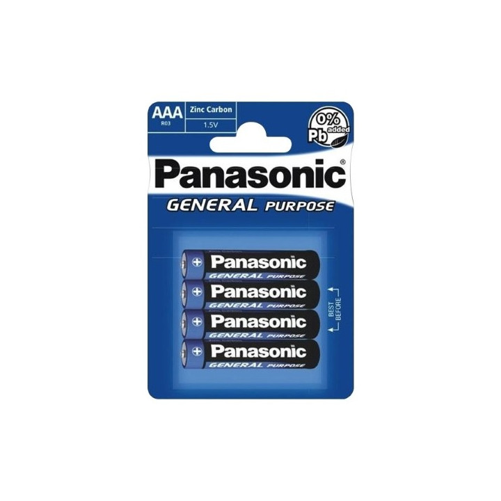 48 piles (12 blisters) Panasonic R03 AAA (LR03)