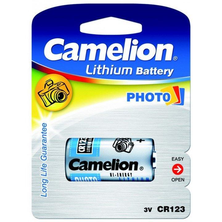 DESTOCKAGE Lot 10 piles lithium CR-123A Camelion 3Volt (10-2024)