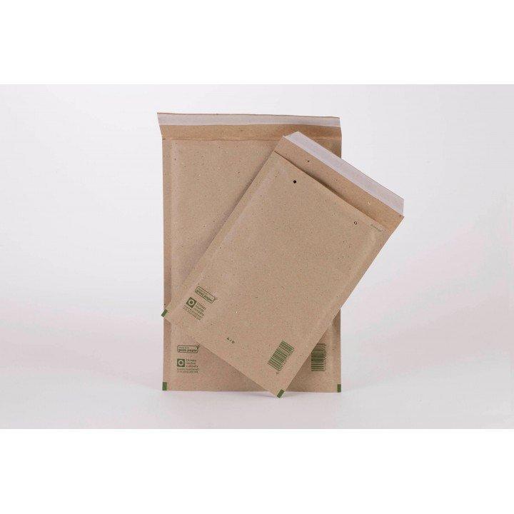 Lot 100 enveloppes à bulles écologique (papier d'herbe) T7 /G