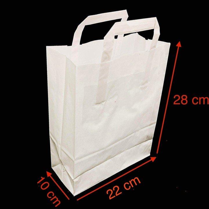 Sac cabac blanc avec poignées plates 220x100x280mm