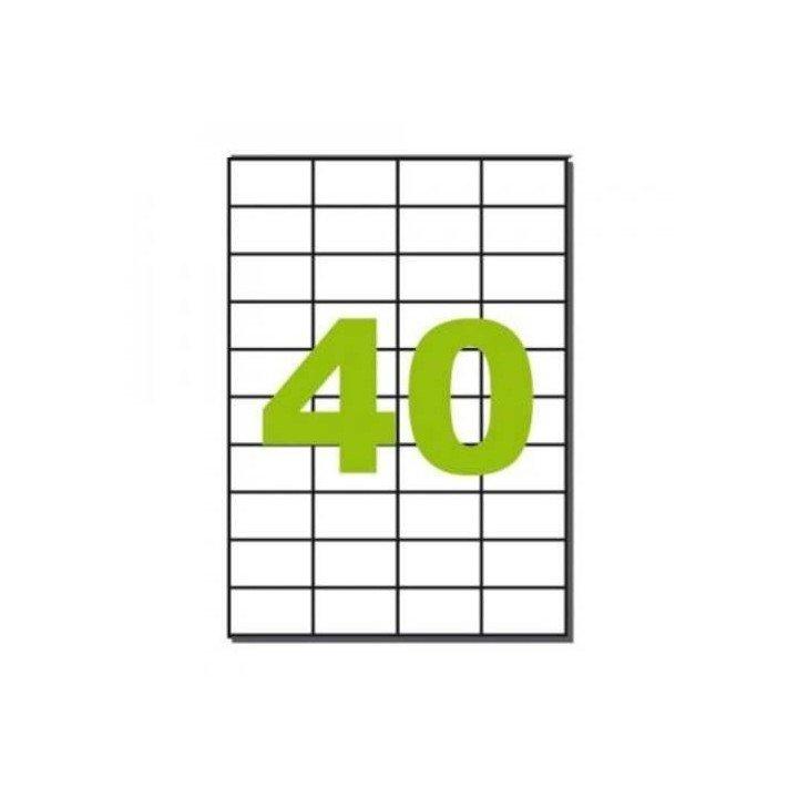 4000 étiquettes multi usages / 100 pages de 40 étiquettes