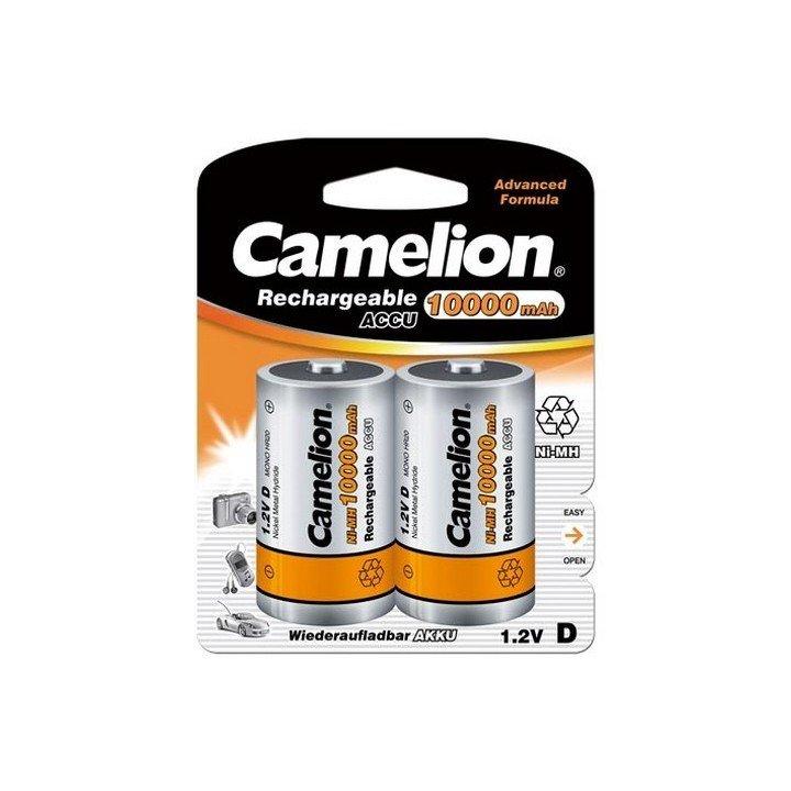 DESTOCKAGE Blister 2 accus D 10000mAh R20 Camelion