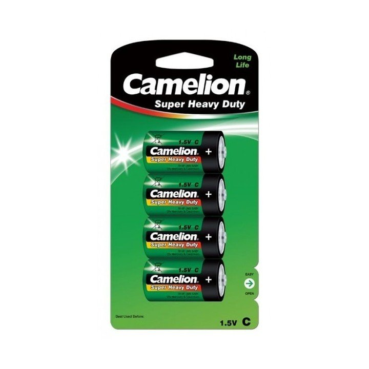 DESTOCKAGE / 4 piles Green Camelion C R14 BP4 10/2016