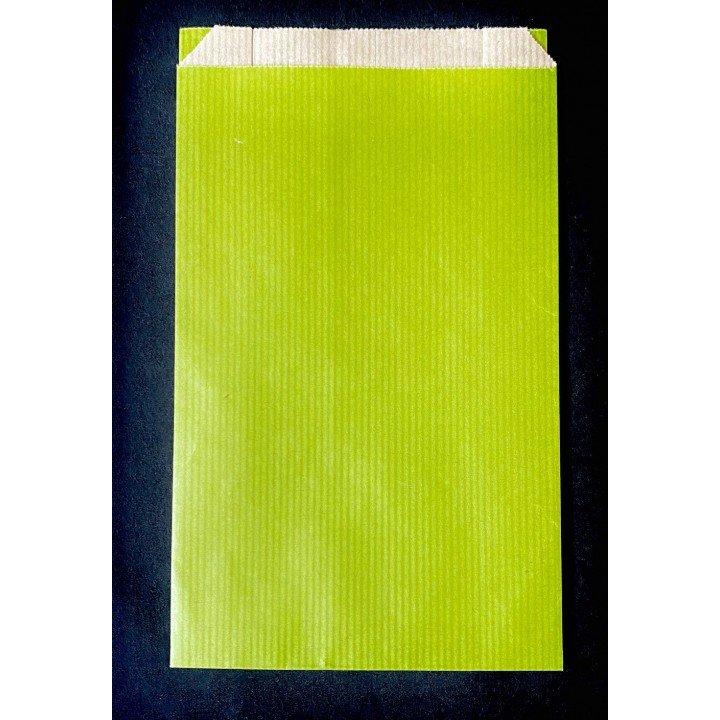 Lot sacs cadeaux pochettes cadeaux soufflet latéraux 60g VERT POMME (dimensions au choix)