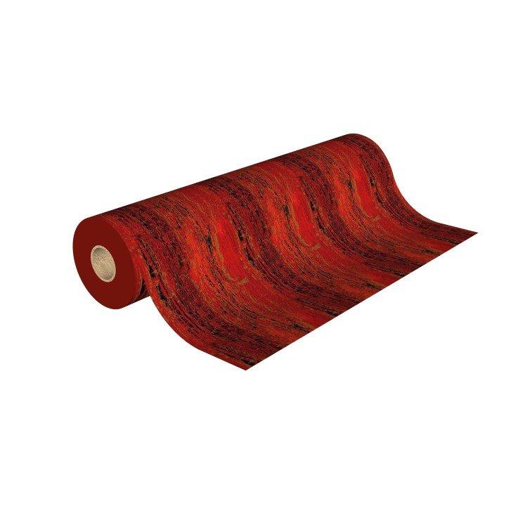1x Rouleau papier cadeau 0,70cm x 50m 60g Rouge Or (H494)