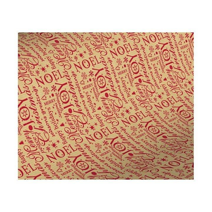 1x Rouleau papier cadeau 0,70x 50m 60g Kraft Noël (KB5322)
