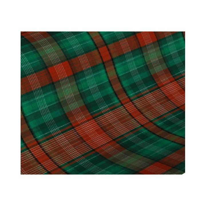 Papier cadeau 50m 60g Carreau écossais rouge vert (H7071)