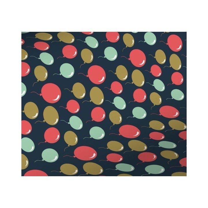 Rouleau papier cadeau ballons 0,70cm x 50m 60g