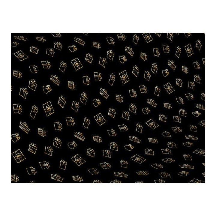 Papier cadeau 0,70cm x 50m 60g paquets en or (H5934)