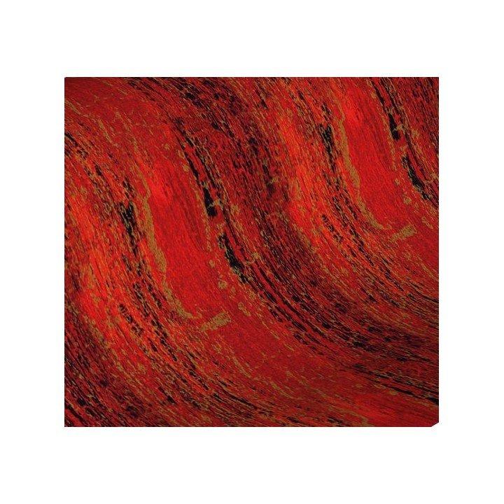 papier cadeau 50m 60g Rouge Noir Or (H494)