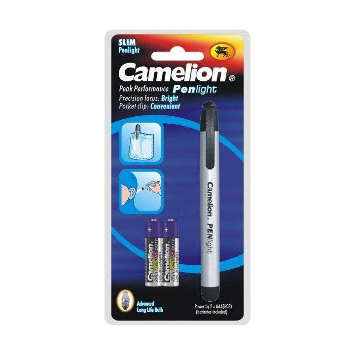Stylo lampe aluminimum Penlight camelion +2 piles R3 AAA (10-2017)