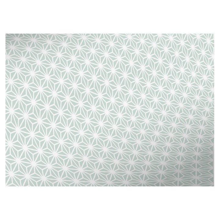 Un rouleau papier cadeau motif étoiles géométriquesR3871