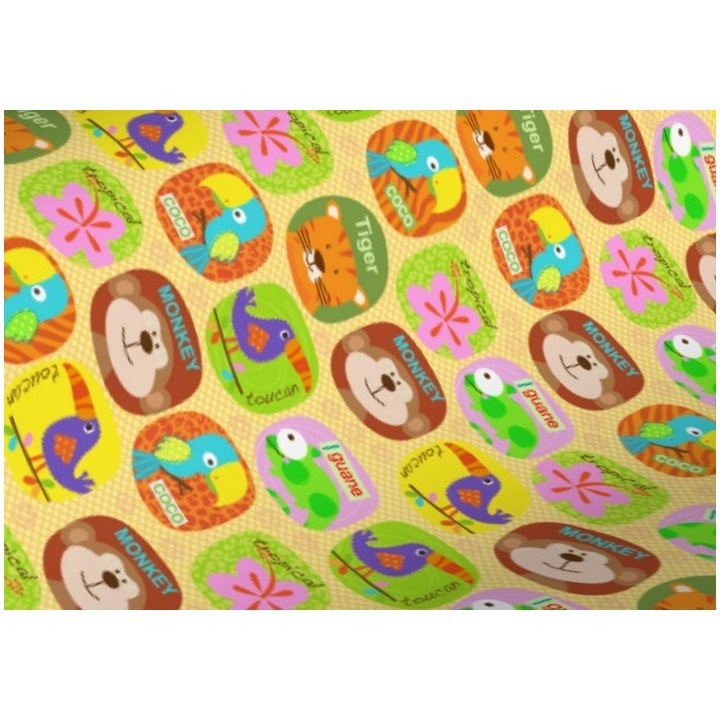 papier cadeau motif animaux jungle R3628)