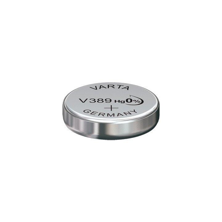 DESTOCKAGE / 5 piles Varta V389 / V 389 (SR 54) Bouton Oxyde d'argent (Février 2021)
