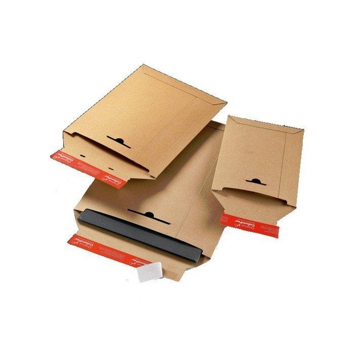 Enveloppe cartonnée colompac CP14.01 marron pochette d'expédition carton ondulé