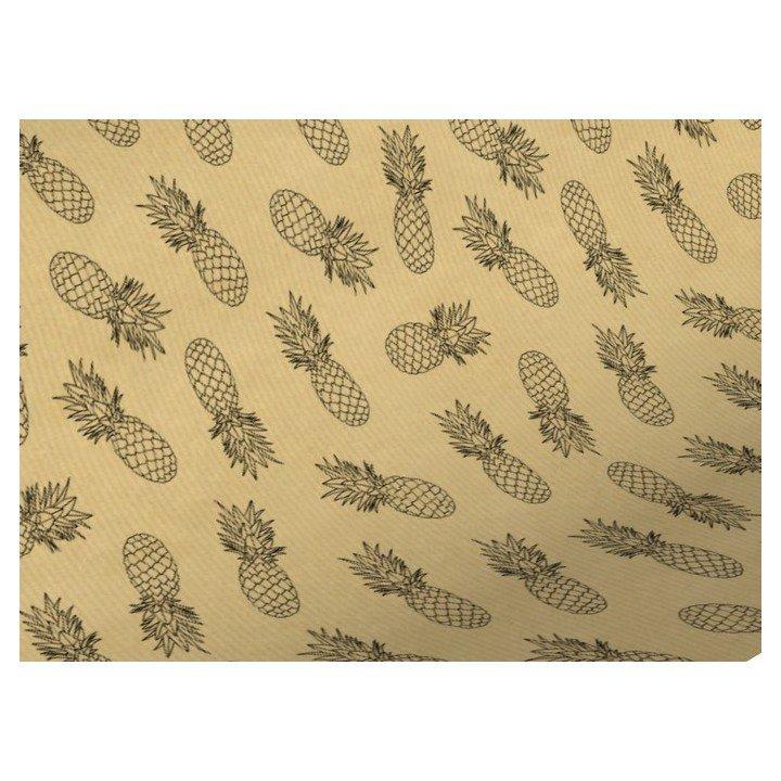 Rouleau papier cadeaux KRAFT avec motif ananas 0,70cm x 50m 60g (3825K)