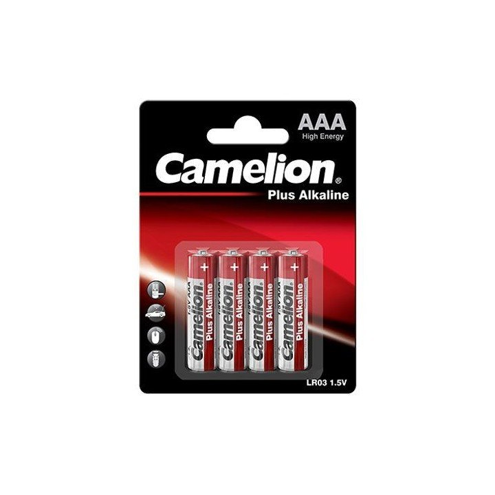 4 piles AAA / LR03 alcalines CAMELION