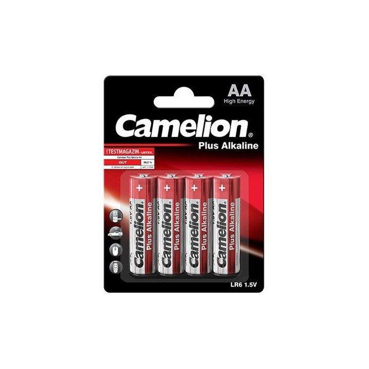 4 piles AA / LR06 LR6 alcalines baton CAMELION