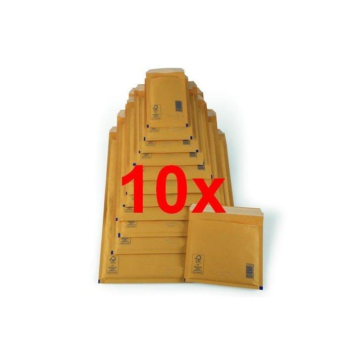 Lot 10x enveloppes à bulles marron (dimensions au choix)