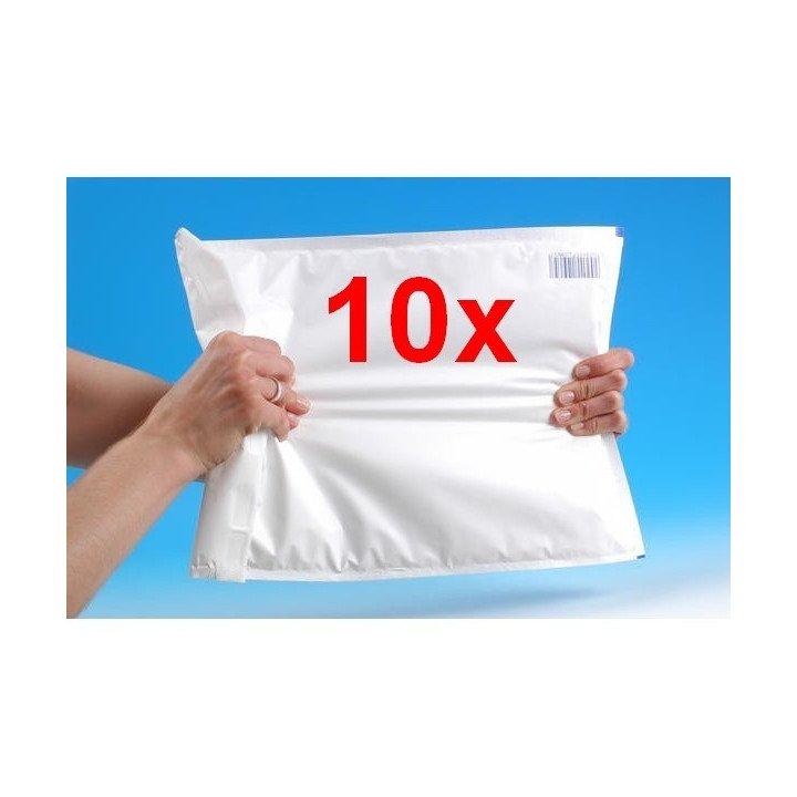 10x enveloppes à bulles plastifiées poly (dimension au choix)