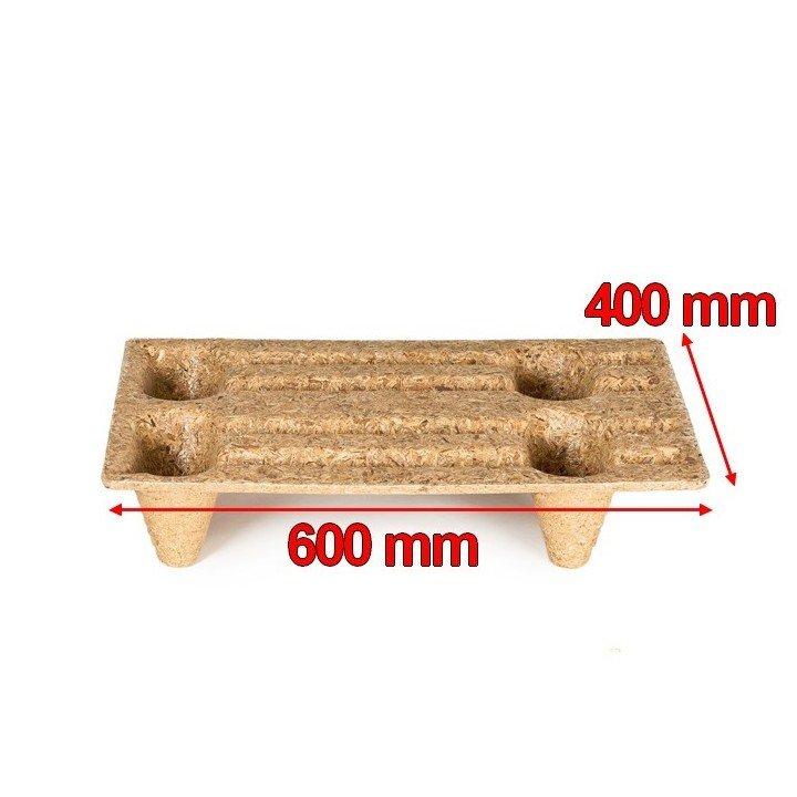 palettes moulée copeaux bois 400 x 600 mm