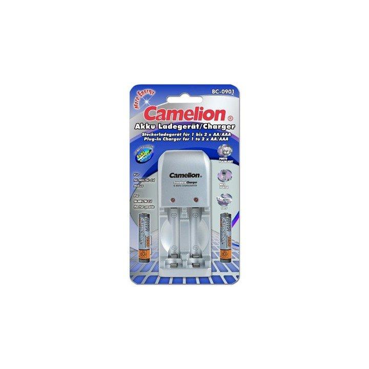 Camelion DESTOCKAGE chargeur  BC-901 + 2 accus 1000mAh