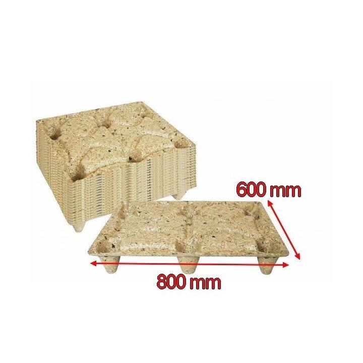 demi-palettes moulées bois 600x800mm 1/2 format EUROPE