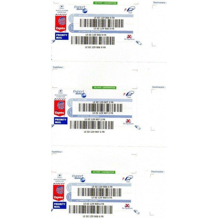 48x ! étiquettes sticker export suivi lettre suivie la poste