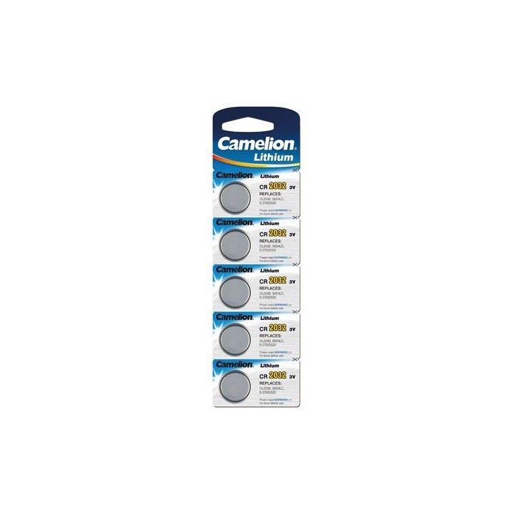 Lot de 5 piles lithium CR-2032 Camelion