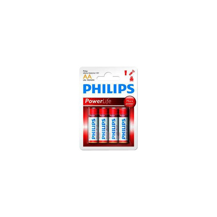 48 piles LR06 AA (12 blisters) Philips Powerlife R06 AA