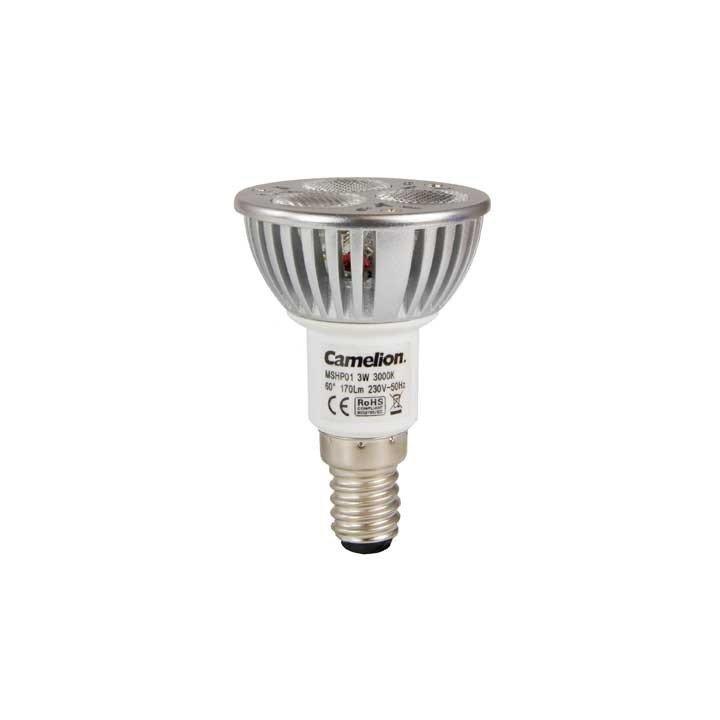 ampoule 3w e14 3000k led spot camelion. Black Bedroom Furniture Sets. Home Design Ideas