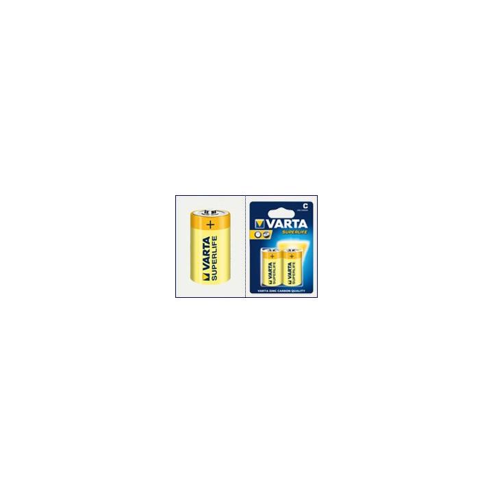 12 piles (6 blisters) Varta superlife R14 C (LR14)