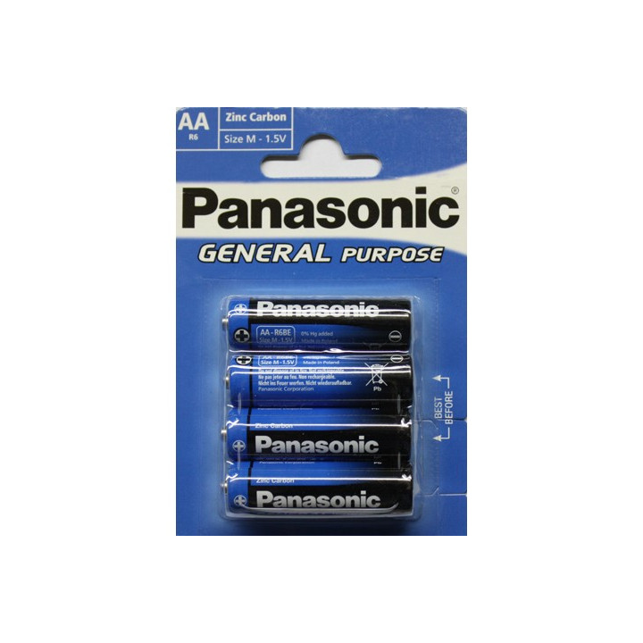 48 piles (12 blisters) Panasonic R06 AA (LR06)