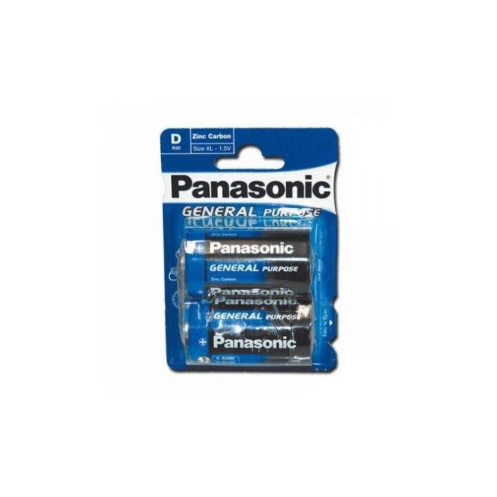 12 piles (6 blisters) Panasonic General Purpose R20 D (LR20)