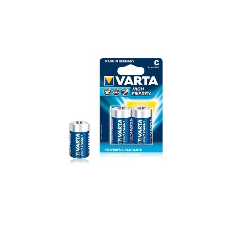 10 piles LR14 C (5 blisters) Varta High Energy R14 C