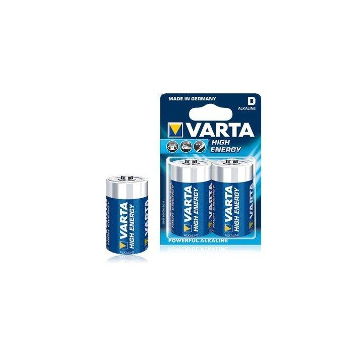 10 piles LR20 D (5 blisters) Varta High Energy R20 D