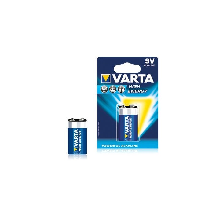 10 piles 9V 6LF22 (10 blisters) Varta High Energy 6LR61