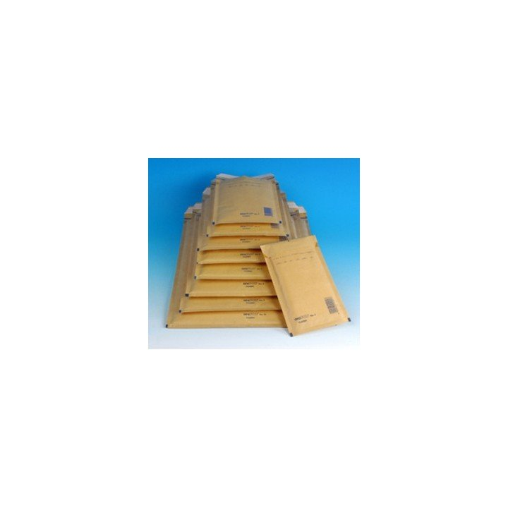 100 ENVELOPPES A BULLES T4 (175*265) BRUNES