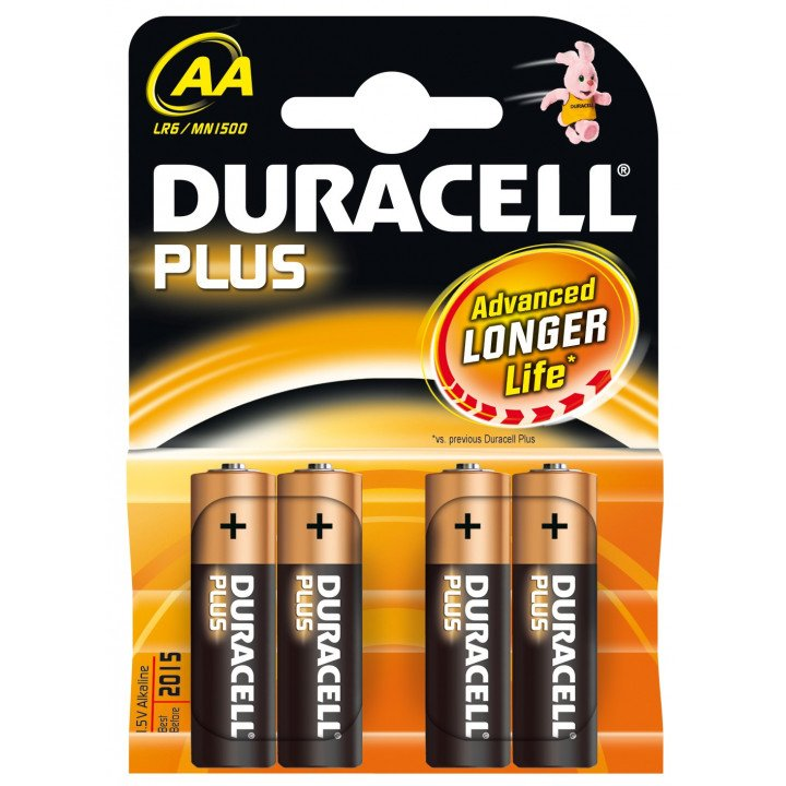 40 piles LR06 AA (10 blisters) Duracell Plus R06 AA