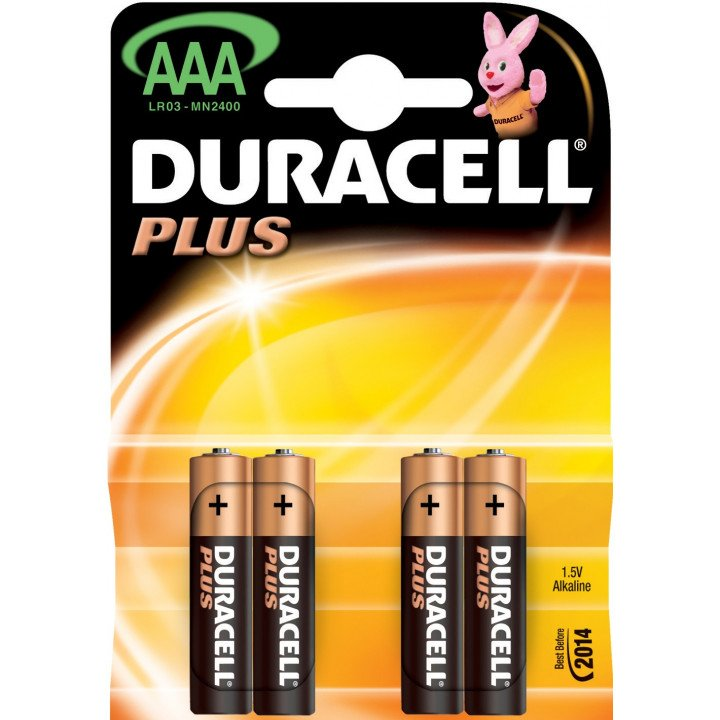 40 piles LR03 AAA (10 blisters) Duracell Plus R03 AAA