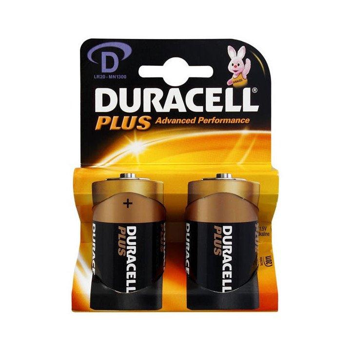 10 piles LR20 D (5 blisters) Duracell Plus R20 D