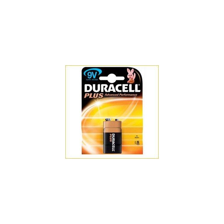10 piles 9V 6LF22 (10 blisters) Duracell Plus 6LR61