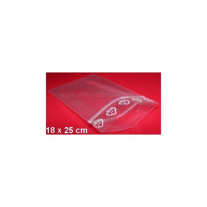 200 sachets plastiques Zip 180x250 mm